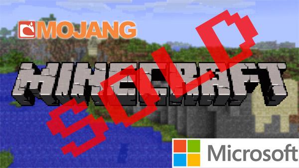 mojang sold to microsoft
